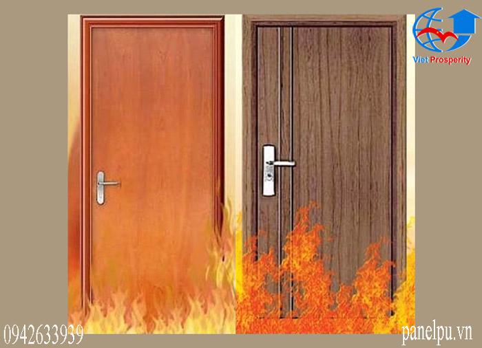 Hình ảnh cửa gỗ chống cháy